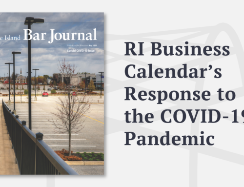 RI Business Calendar's Response to the COVID-19 Pandemic: the Business Recovery Plan